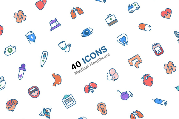 40 Icons Of Medical And Healthcare