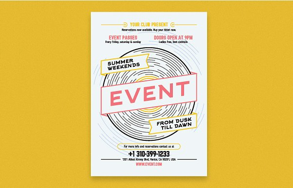 Musical Club Event Poster Template