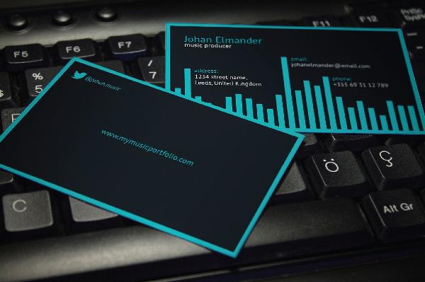 20  musician business card