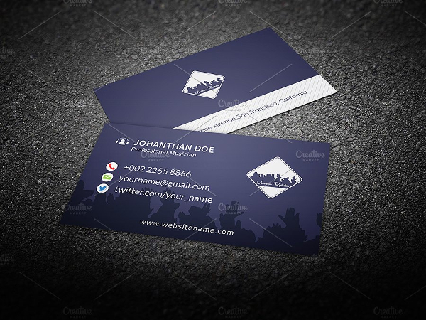20  musician business card