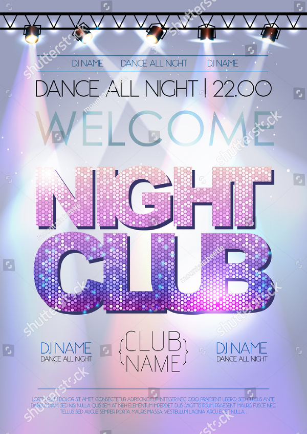 Abstract Club Night Party Poster