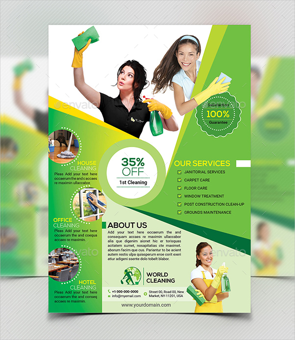16  house cleaning flyers free  u0026 premium download