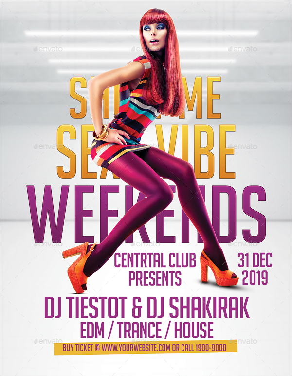 Sexy Vibe Club Design Poster and Flyer Template