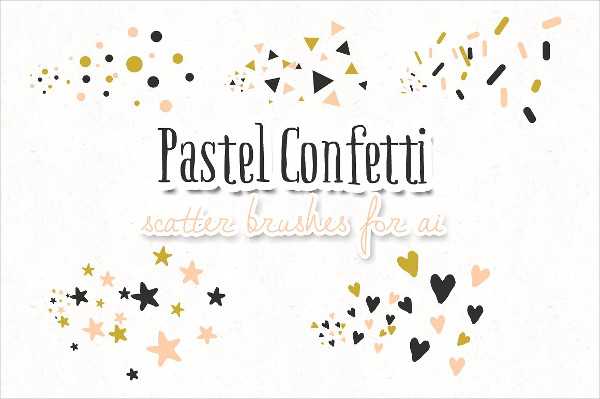 Pastel Confetti Star Scatter Brushes
