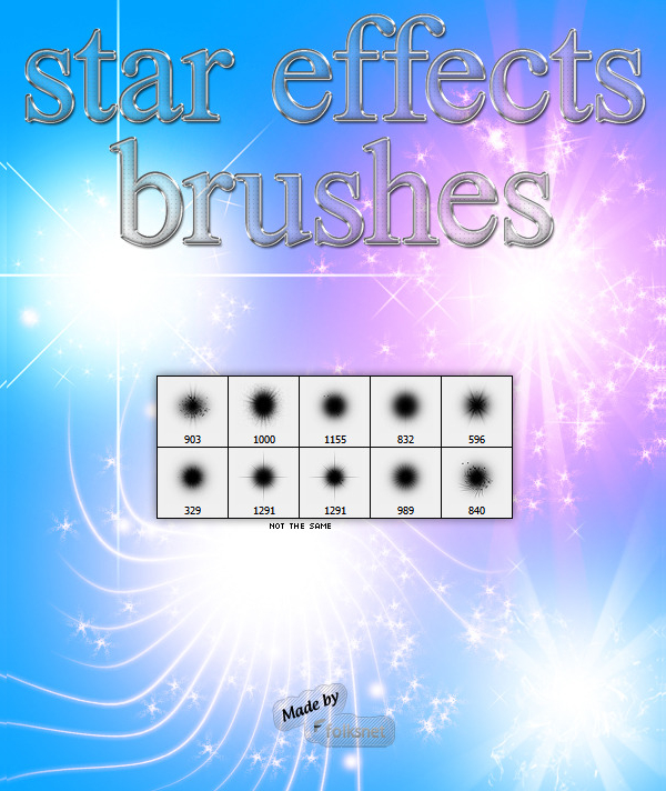 Unique Star Effects Brushes