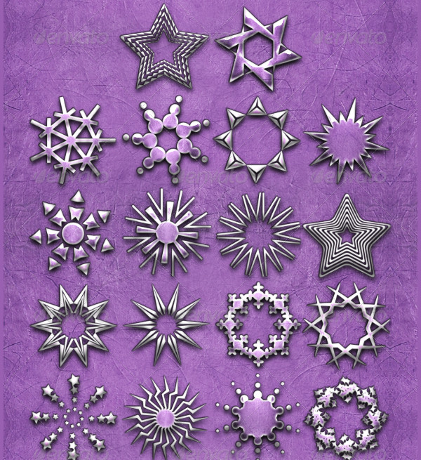 Decorated Star Vector Brushes