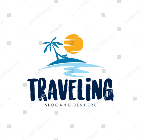 World Traveling Creative Logo