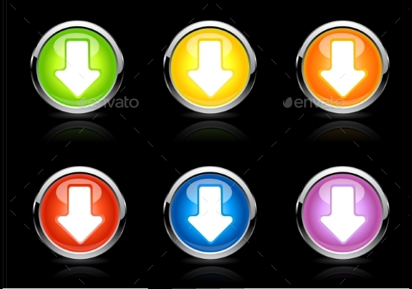 Arrow Vector Color Buttons Pack