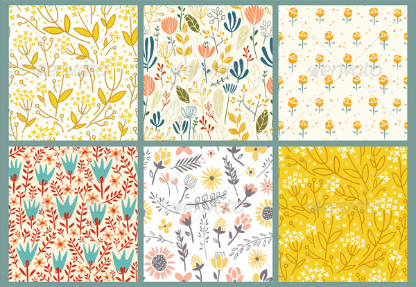 Abstract Flowers Patterns