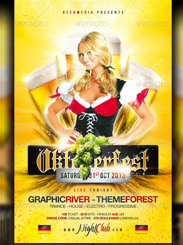 Simple Beer Winter Festival Party Flyer Template