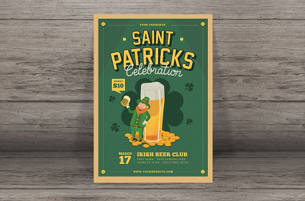 Patricks Beer Event Flyer Template