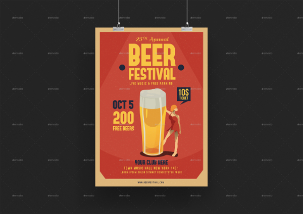 Perfect Winter Beer Festival Flyer Template