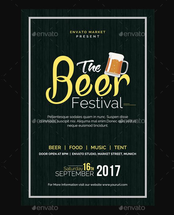 Beer Festive Season Flyer Template