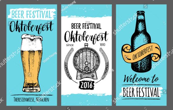 Vintage Beer Fest Card Flyer Template
