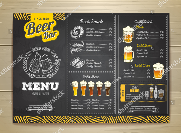 20 bar menu template free psd eps illustrator png eps downloads