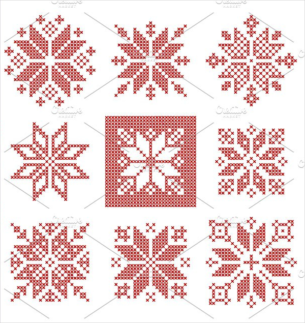 Cross Stich Snowflakes Patterns