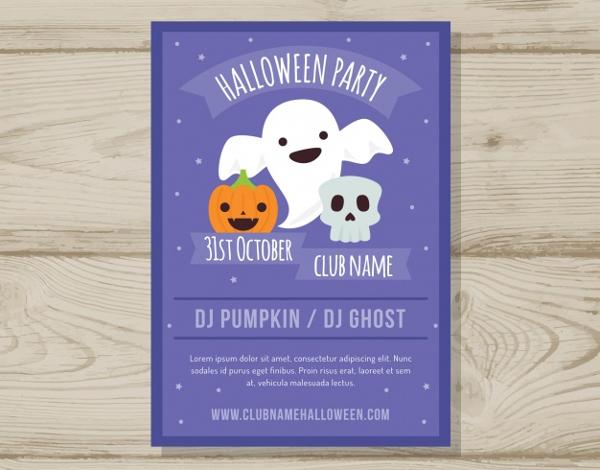 Free Halloween Party Design Flyer
