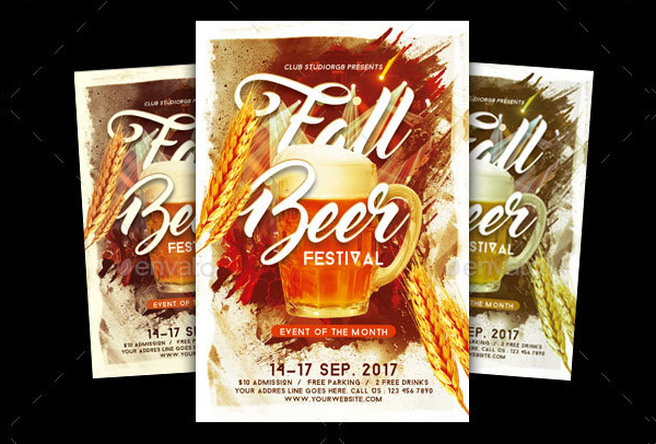 Fall Beer Festival Template Flyer