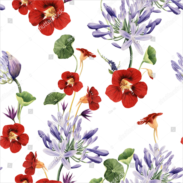 Seamless Floral Pattern Template