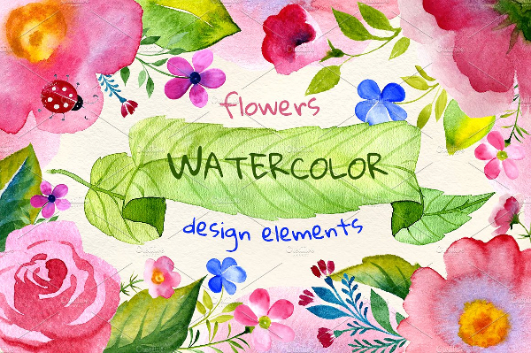 Watercolor Flowers Patterns