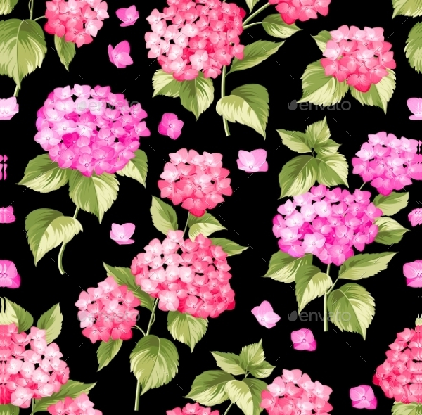 Flower Pattern Of Hydrangea Flowers