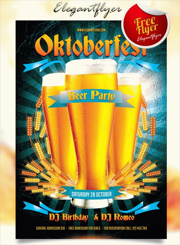 Beer Party Free PSD Flyer Template