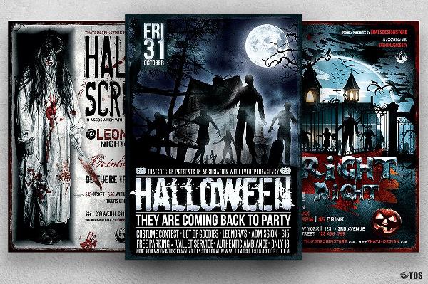 Best Halloween Party Flyer Bundle