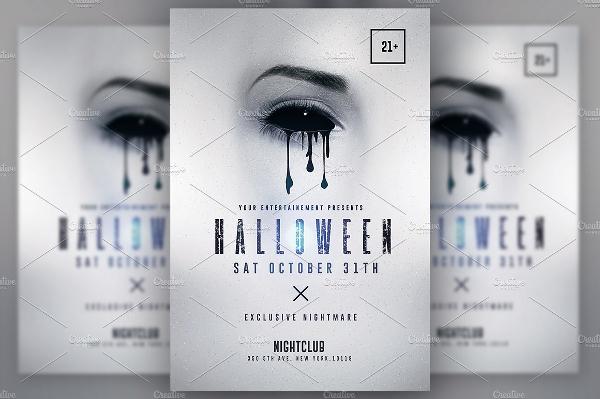 Halloween Minimalist Flyer Template