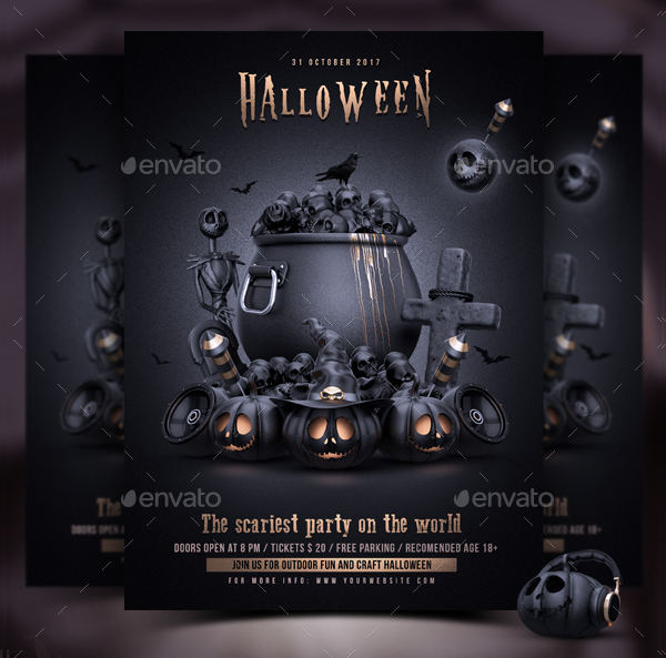 Awesome Halloween Party Design Flyer