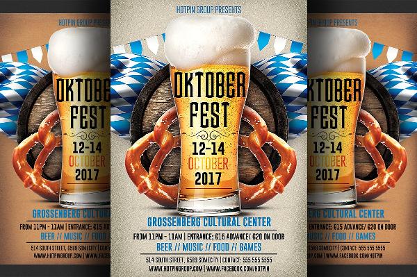 Modern Beer Fest Event Flyer Template