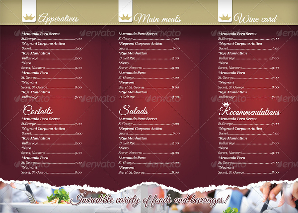 Restaurant Menu Template Free Premium PSD Vector Ai Downloads - Folded menu template
