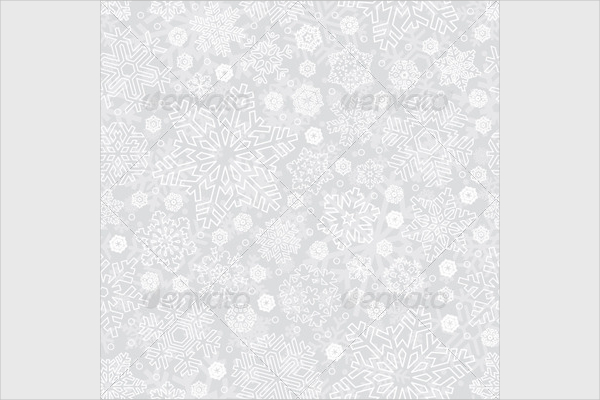 Snowflakes Seamless Pattern Design