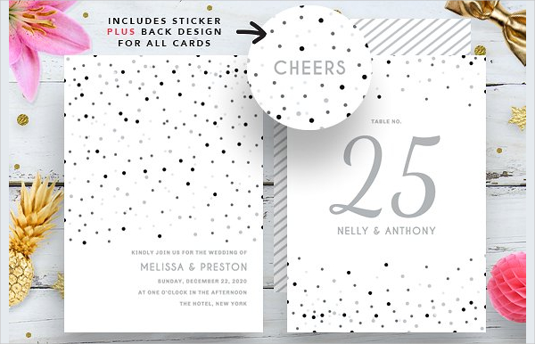 Silver Confetti Wedding Bundle