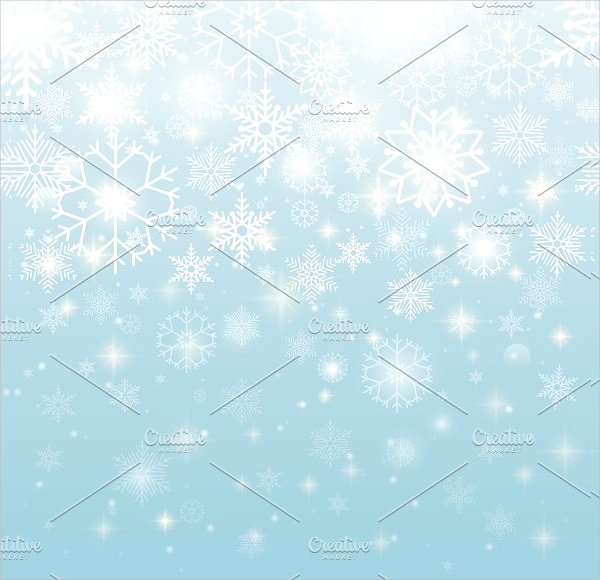 Beautiful Snowflakes Print Pattern