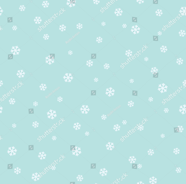Simple Snowflakes Vector Pattern