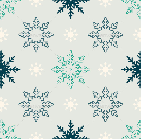 Snowflake Winter Seamless Pattern