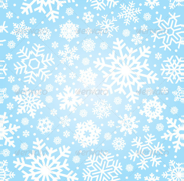 Seamless Snowflakes Vector Pattern