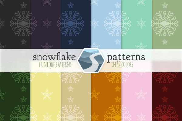 Unique Snowflake Pattern Set