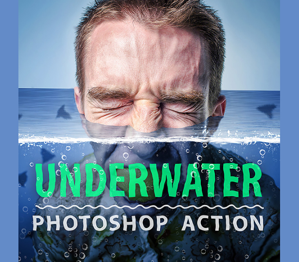 Simple Under Water Photoshop Actions