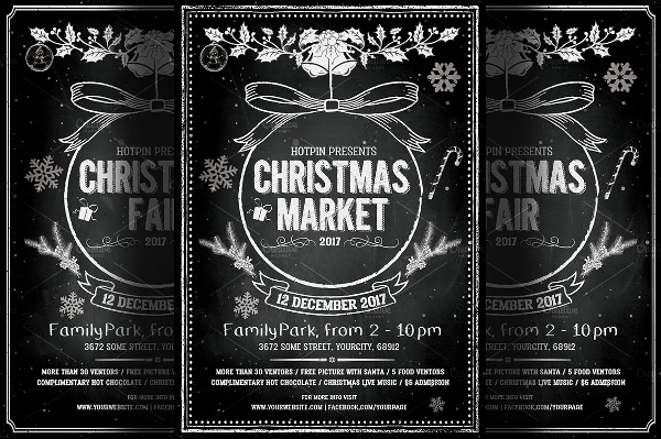 Vintage Christmas Event Party Flyer Template