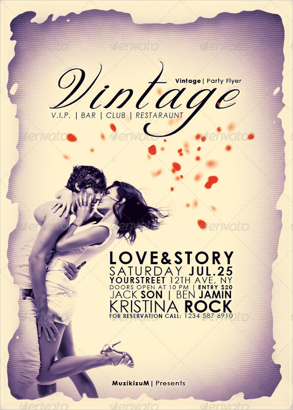 VIP Vintage Party Flyer Template