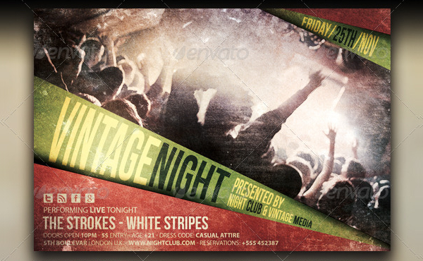 Vintage Indie Party Flyer Template