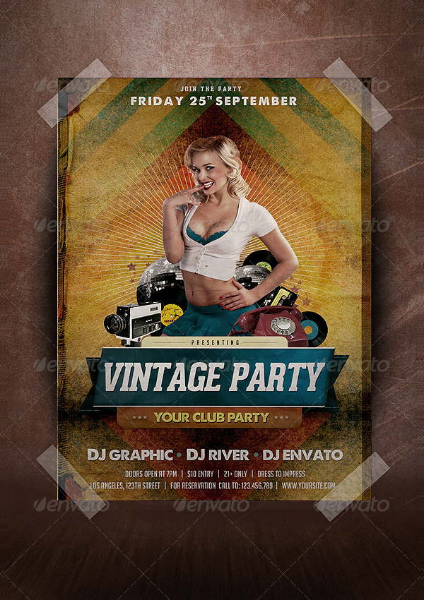 Perfect Vintage Party Flyer Template