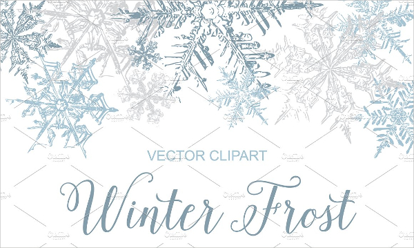 Vintage Snowflakes Vector Pattern Clipart