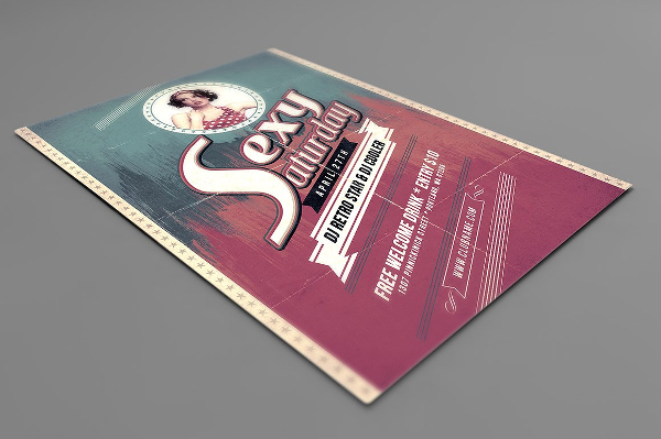 Vintage Style Party Flyer Template