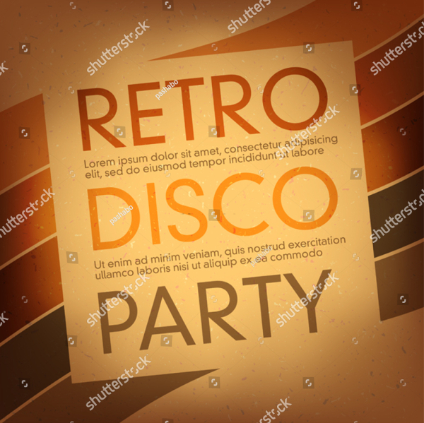 Vintage Disco Party Flyer Template