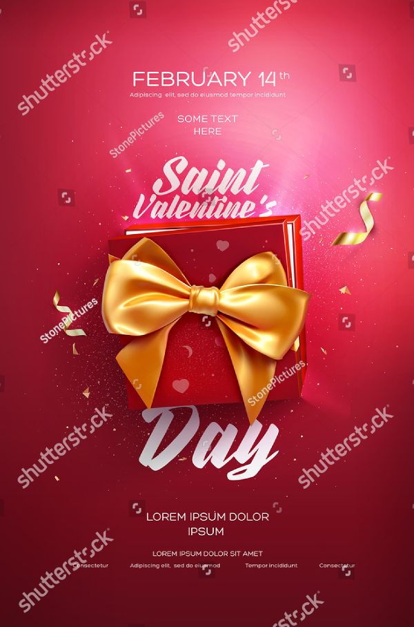Wedding Valentines Day Poster Template