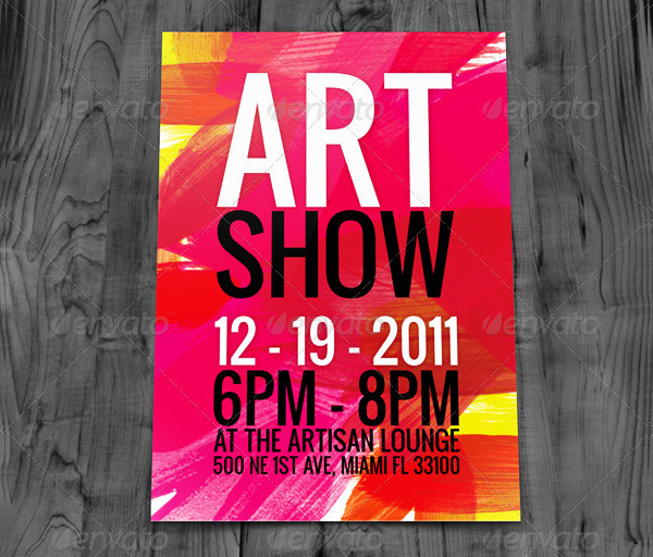 23 art event flyer free premium psd png eps vector downloads