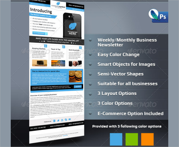 17 business newsletter templates free premium psd downloads clean business email newsletter template accmission Gallery