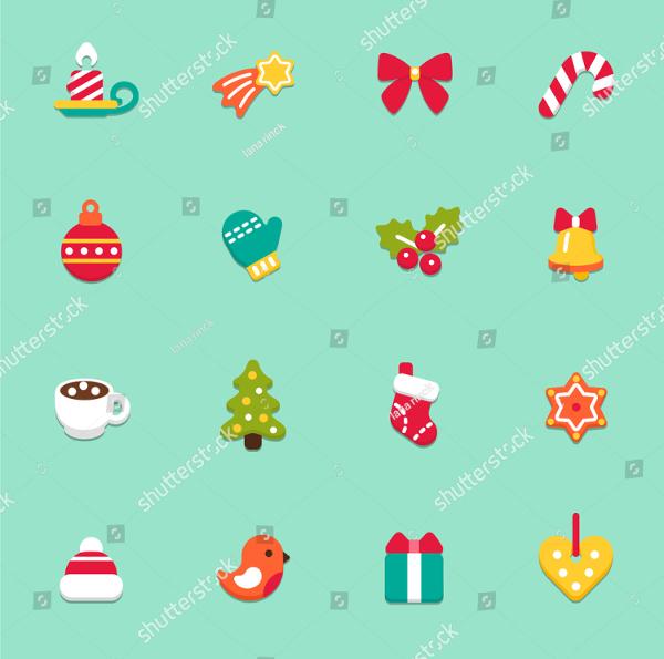 Christmas Festival Design Icons